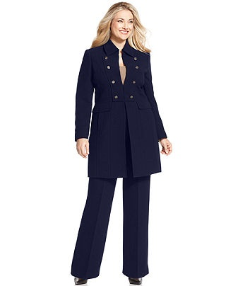 Need to look good on the job Tahari by ASL Plus Size Suit, Military Coat & Trousers - Plus Size Suits & Separates - Plus Sizes - Macy's