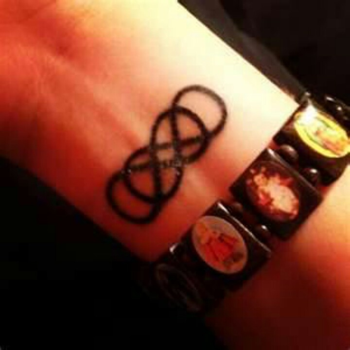 Double infinity wrist tattoo  Would love to have this tattoo...one for each of my babies!!