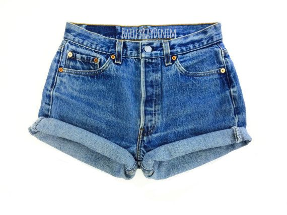 bd2820cebc Levis High Waisted Cuffed Denim Shorts Rolled Up Denim Shorts Plain Jean  Shorts in 2019 | S/S 2017 | Vintage high waisted shorts, High waisted shorts,  Denim ...