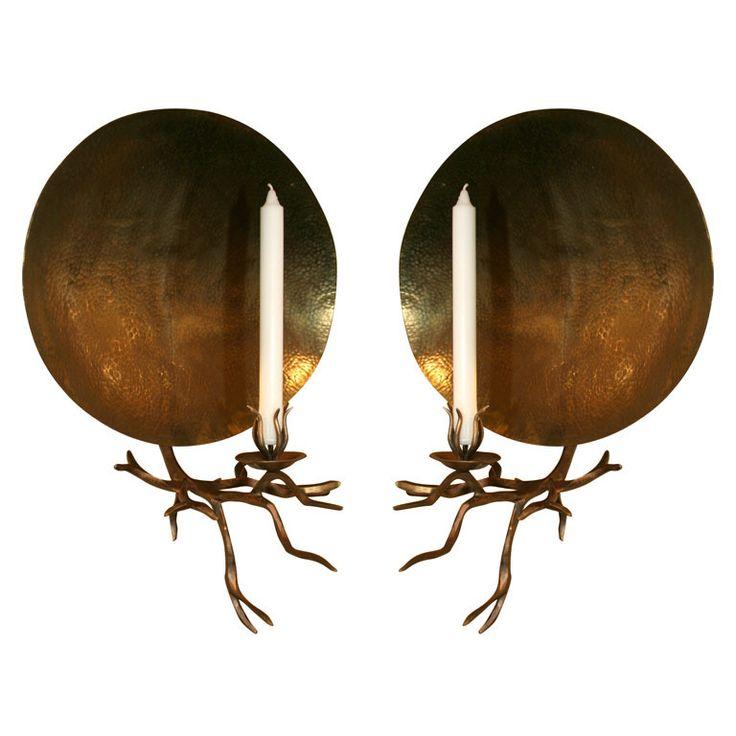 Contemporary Candle Sconce | 1stdibs.com