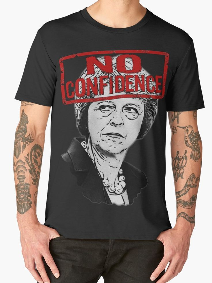 """""""NO CONFIDENCE"""" Men's Premium T-Shirts by Paparaw   Redbubble"""