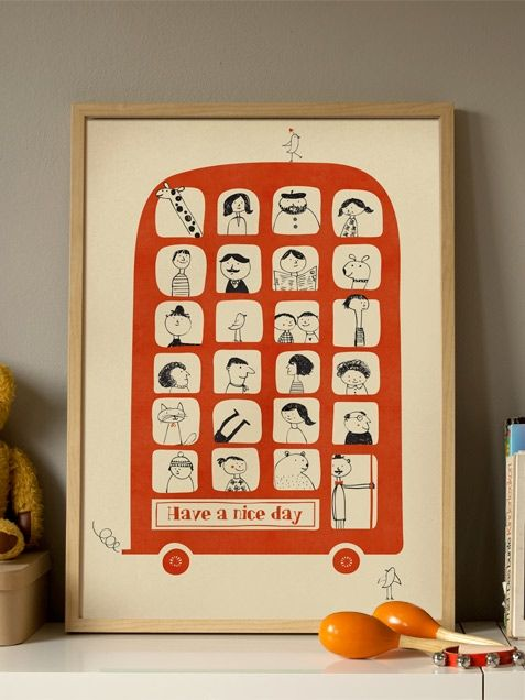 A Magic Bus Poster (50x70cm) for 12 € at http://www.humanempireshop.com