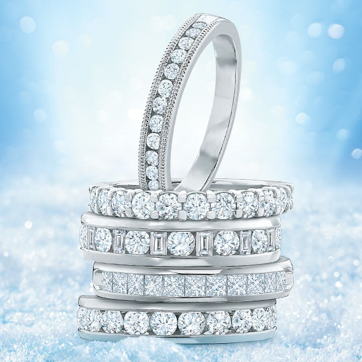 Exquisite Diamond Anniversary Bands
