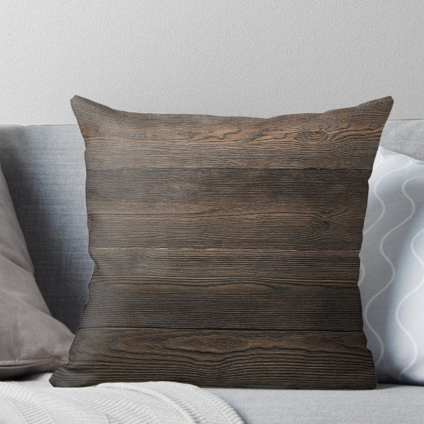 Rustic Dark Brown Wood Look Texture Throw Pillow By Citronelladesig In 2020 Throw Pillows Brown Throw Pillows Textured Throw Pillows