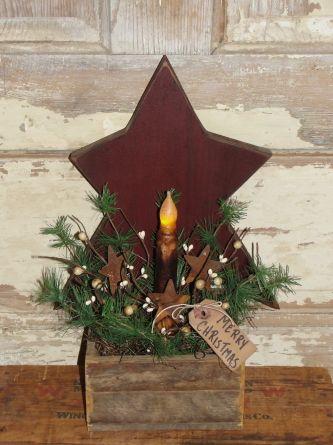 Winter Pine Star Lath Light