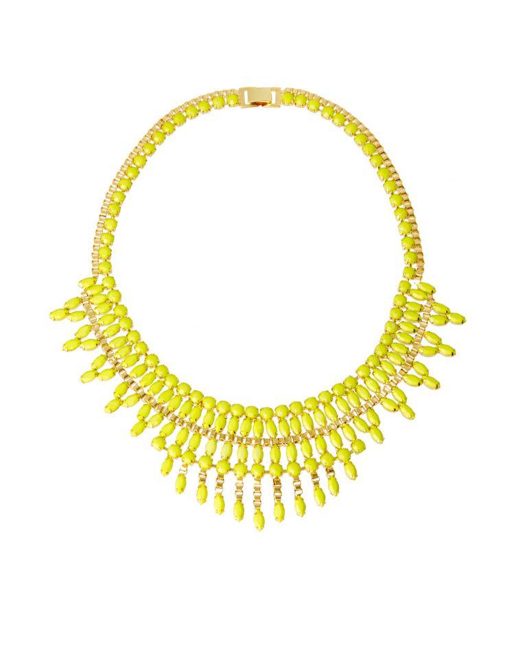 ASOS opaque stone bib necklace. $61.57