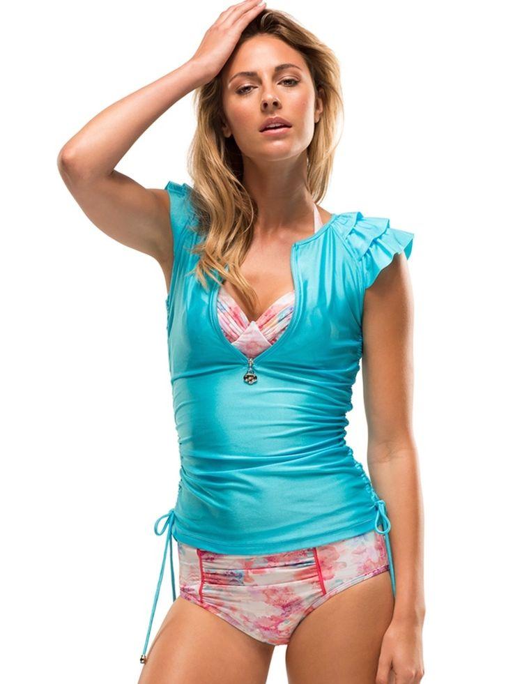 Kasana Sea - Ladies Janie Ruffle Swim Top - SunSoaked, $119.00 (http://www.kasanasea.com.au/ladies-janie-ruffle-swim-top-sunsoaked/)
