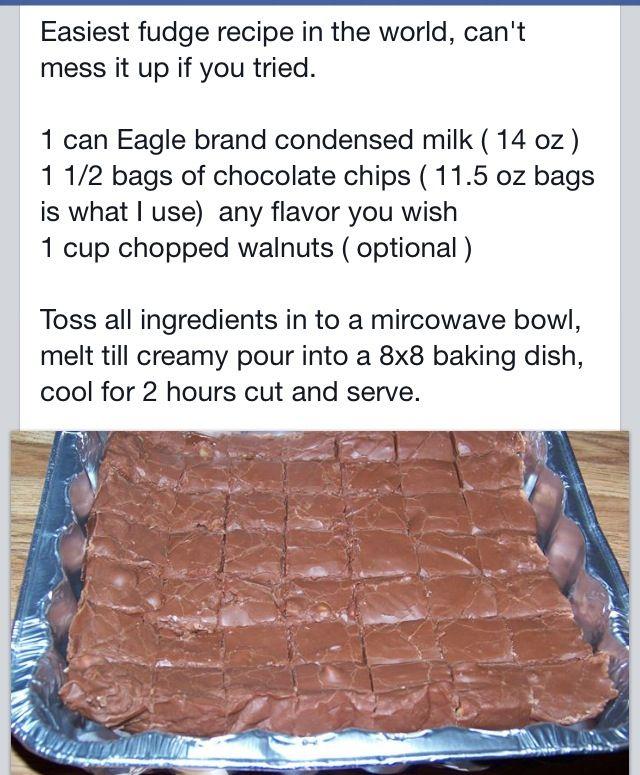 best easy fudge recipe EVER | Recipes | Pinterest | Easy Fudge, Fudge ...