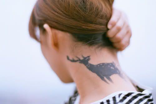 deer tattoo: Tattoo Ideas, Dear Tattoo, Tattoo Neck, Animal Tattoo, Awesome Tattoo, Deer Tattoo, Neck Tattoo, Ink Tattoo, Amazing Tattoo