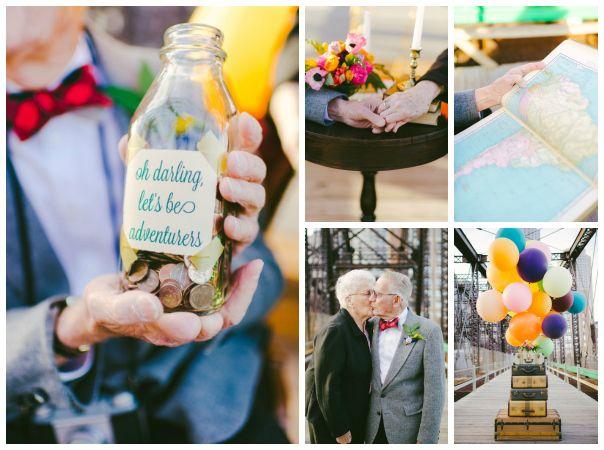 La pareja que celebró sus 61 años de casados al estilo de UP