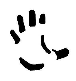 Ley de la pregnancia: los elementos de color negro hacen que veamos la forma que corresponde a una mano. NO, ES DE CONTINUIDAD O CIERRE