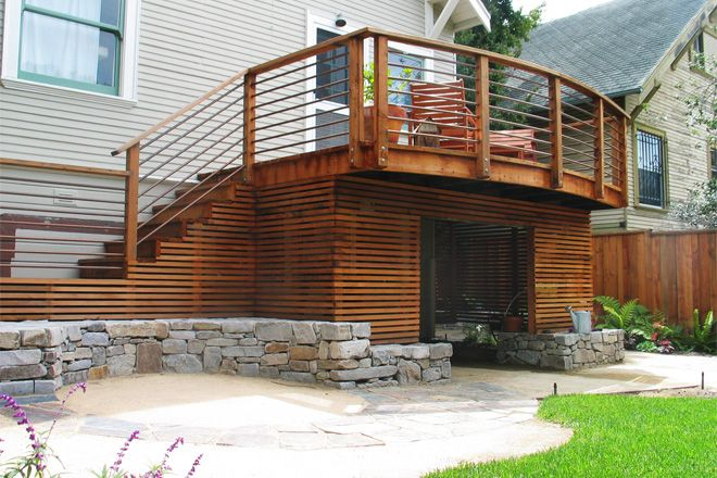 17 best images about under deck storage on pinterest for Garden shed on decking