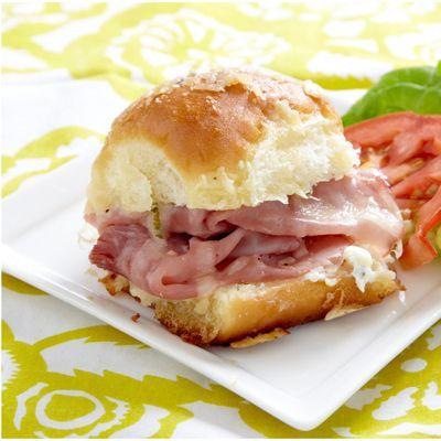 Sassy Tailgate Sandwiches Recipe - Philadelphia Cream Cheese Recipe - Delish.com