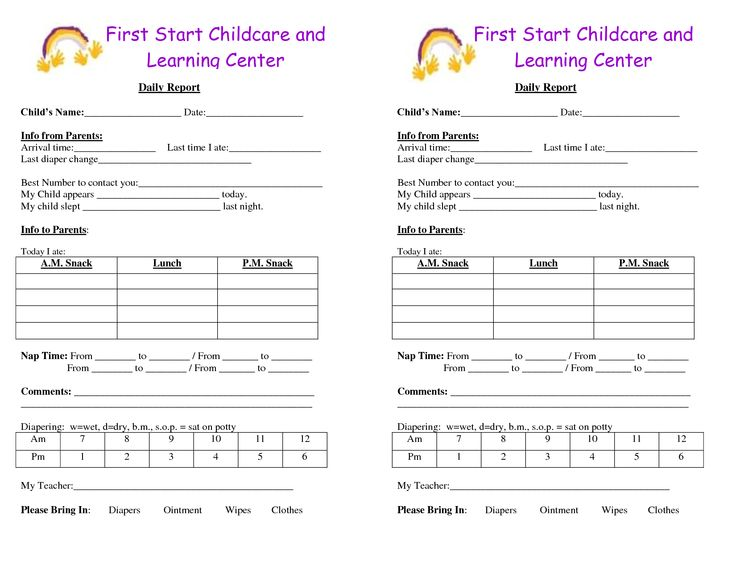 baby log forms - Google Search daycare forms Pinterest - child travel consent form usa