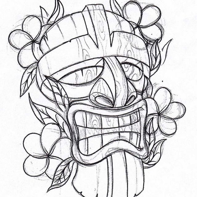 coloring pages tiki - photo #37