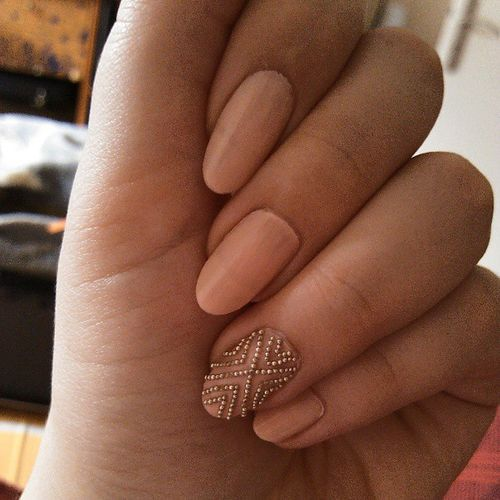 pink beige nail polish and caviar nail art - annie.k on imgfave