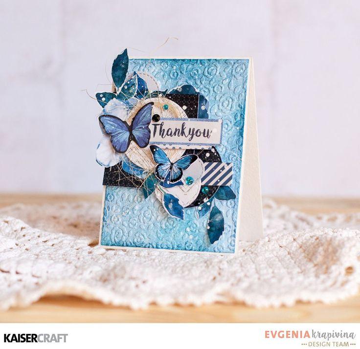 Beautiful Card and process video with Evgenia Krapivina - Kaisercraft Official Blog