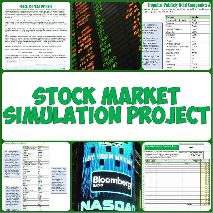This fun and informative stock market project has students research companies they want to invest in for a simulation of how the stock market and investing work!