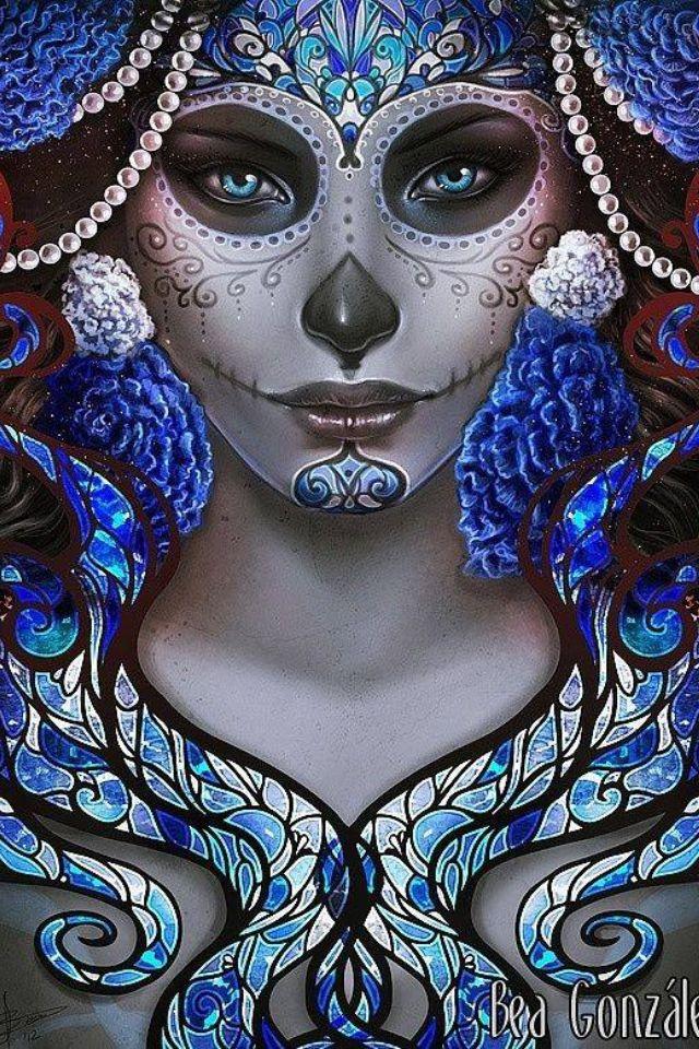 Beautiful Sugar Skulls Drawings Beautiful La Ca...