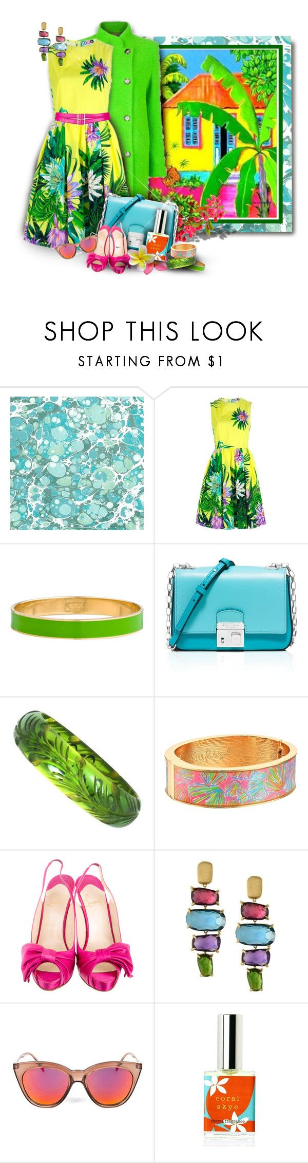"""Les Caraïbes"" by franceseattle ❤ liked on Polyvore featuring Trilogy, MSGM, Kate Spade, Michael Kors, Lilly Pulitzer, Christian Louboutin, Marco Bicego, Le Specs and Oscar de la Renta"