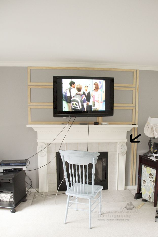 Cameras And Chaos Great Idea Just Without Going Over The Edge Of Mantel House Ideas In 2018 Pinterest Wall Mounted Tv Tvs