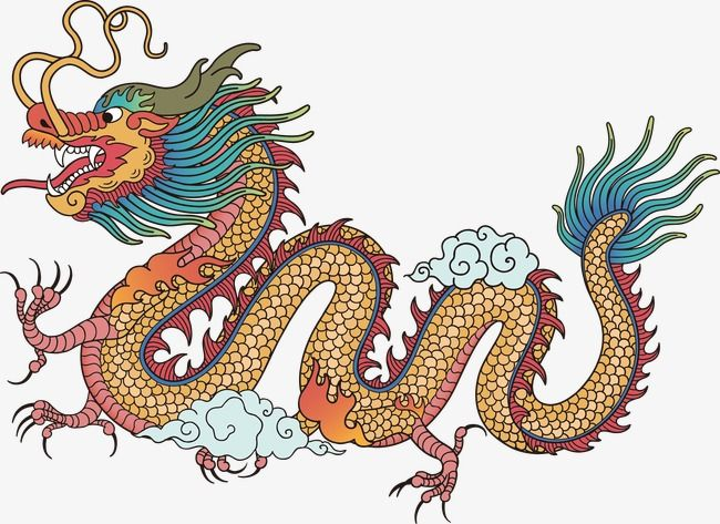 Yellow Chinese Style Chinese Dragon Vector Material Yellow Chinese Style Chinese Dragon Png And Ps Chinese Dragon Drawing Dragon Illustration Chinese Dragon