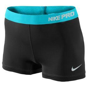 "Nike Pro 2.5"" Compression Shorts - Women's - Black/Gamma Blue/Dusty Grey"