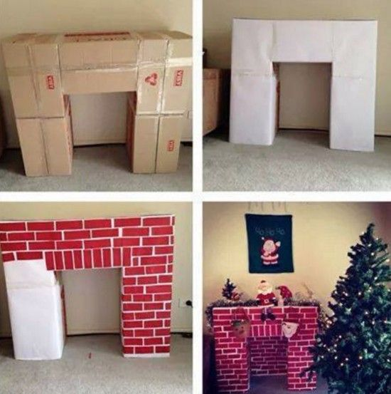 How to make a Cardboard Fireplace                                                                                                                                                                                 More