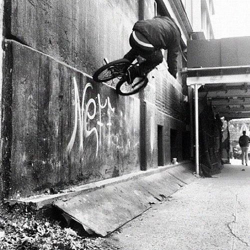 Black and White, bank hop to wallride