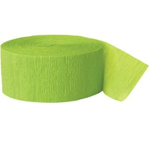 Crepe Streamers 500' Lime Green
