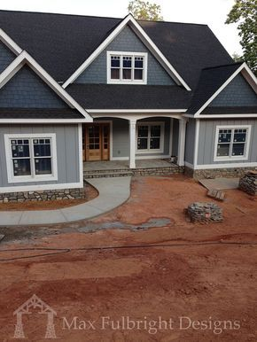 Butlers Mill is a cottage style lake house plan with a walkout basement and garage. An open living floor plan is designed to take advantage of wasted space.