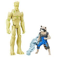 Marvel Guardians of the Galaxy Titan Hero Series 2 Pack 12 inch Action Figure  Rocket Raccoon and Groot