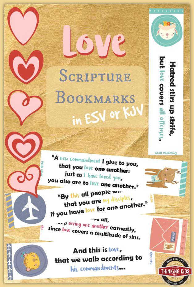 Love Scripture Bookmarks in ESV and KJV