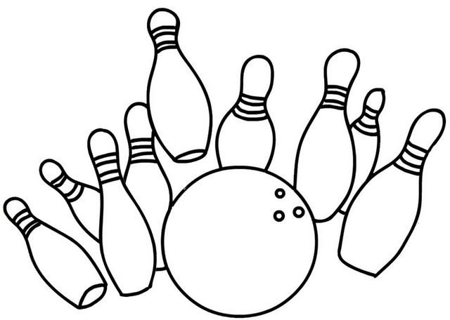 Best Bowling Coloring Page For Kids Coloring Pages Sports Coloring Pages Cartoon Coloring Pages