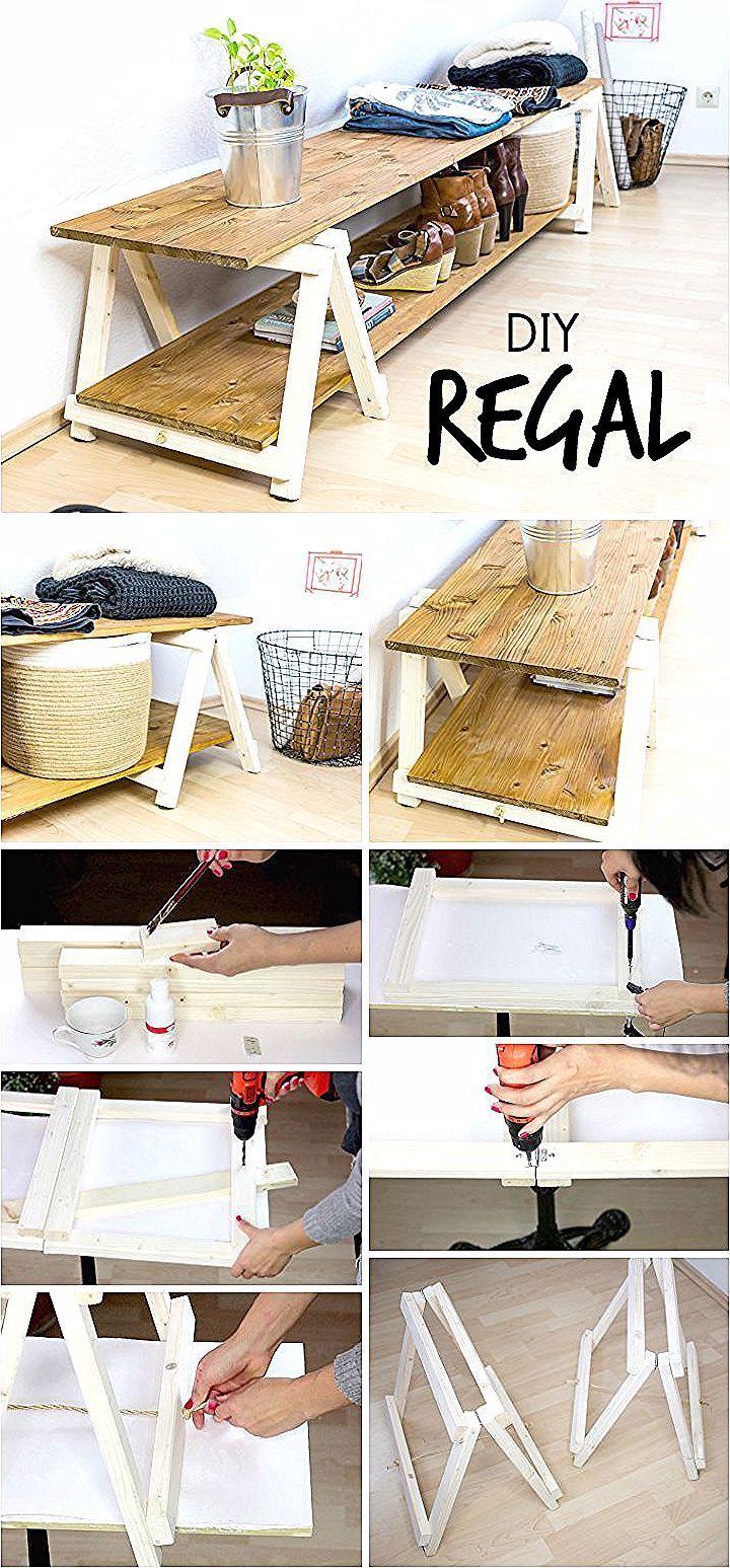Möbel selber bauen: Dieses Regal ist einfach zu machen und
