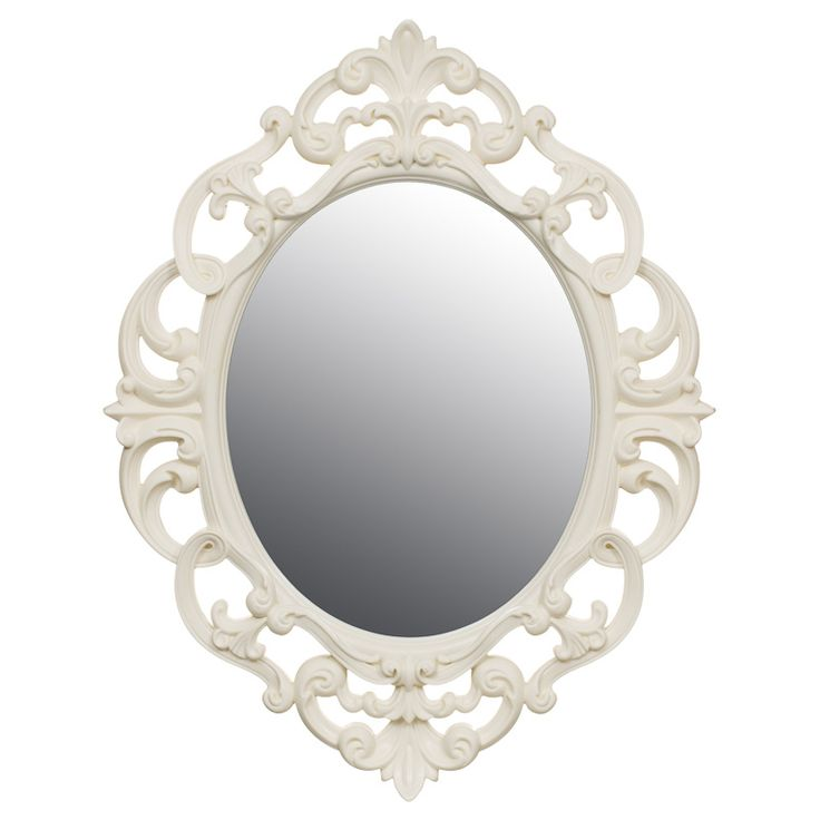 Small Ornate Oval Mirror