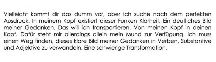 """short extract from """"Verstehst du was ich meine?"""""""