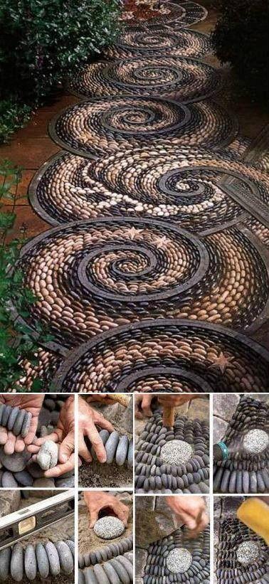 DIY Beautiful Garden Stone Pathway by Kelly Jelic