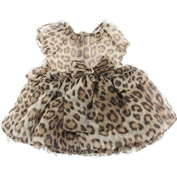 0535ce4626 Roberto Cavalli Baby Girls Leopard Print Silk Dress With Frill Bow ...
