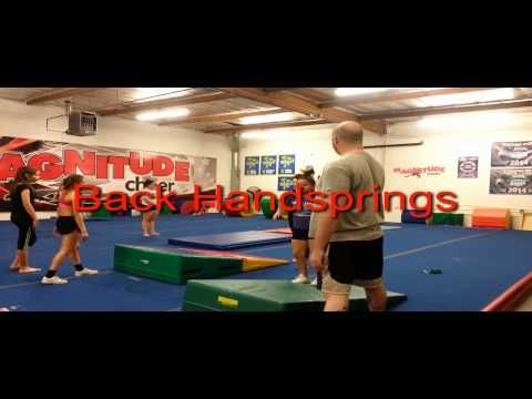 http://www.MagnitudeCheer.com (818) 280-8044  Experience our first-rate tumbling and cheerleading instruction!  Tumbling classes, cheerleading classes, All-Star cheer teams, birthday parties, private lessons, and more available  Call today to schedule a gym tour for your family!