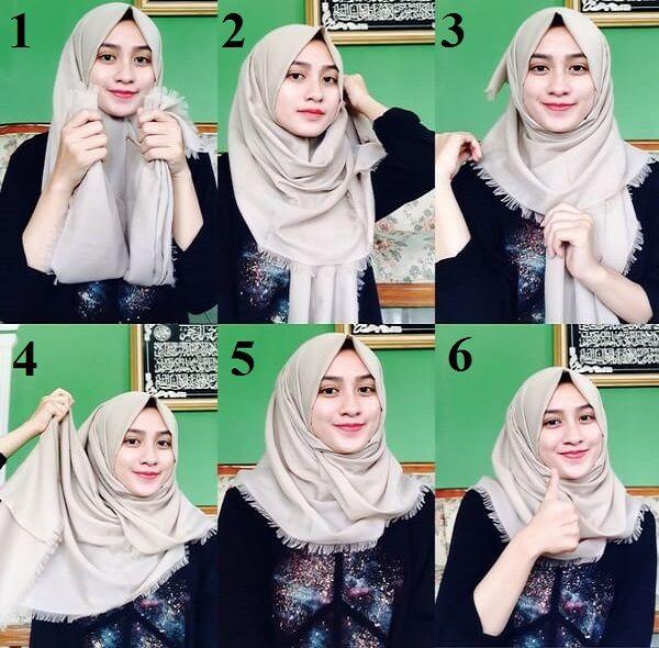 Model Hijab Segi Empat Rawis