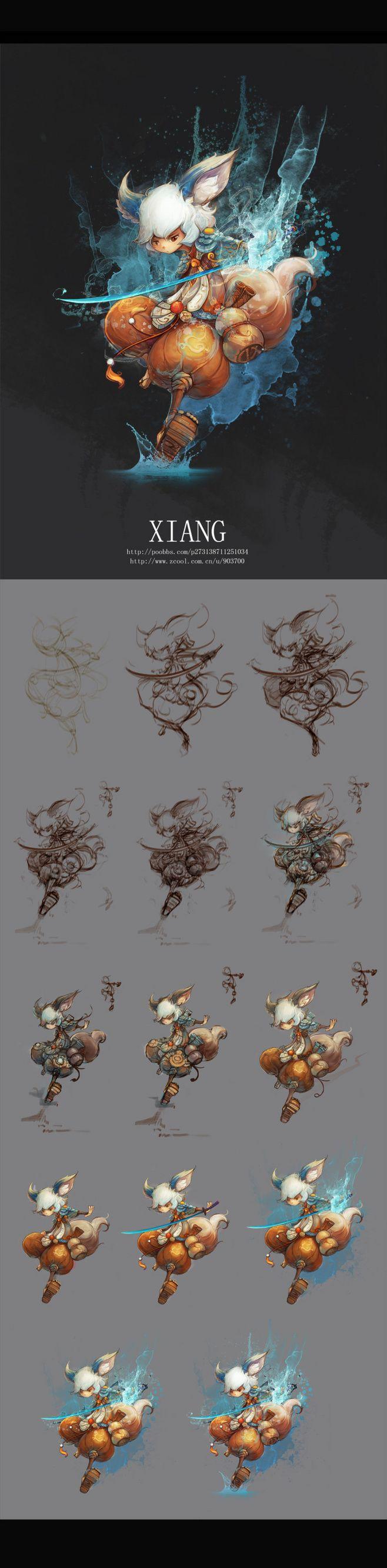 剑士一枚(含过程图) #采集大赛#@EITTO采集到我的艺术版(46图)_花瓣