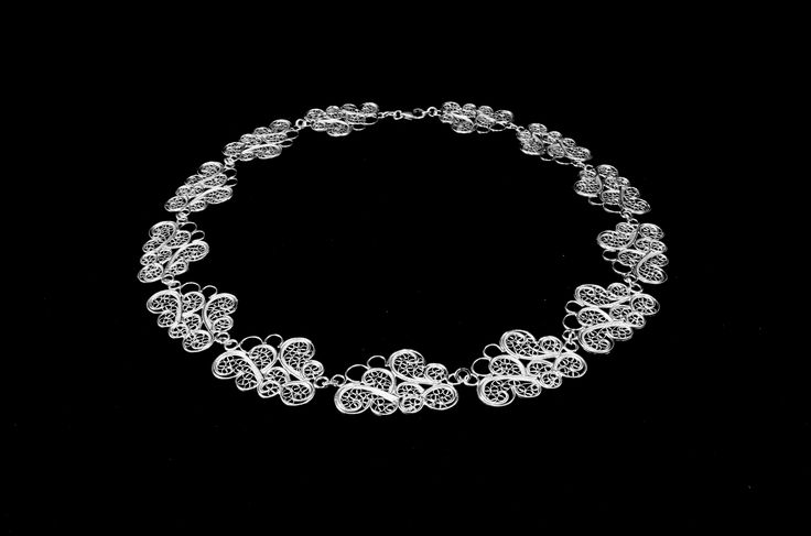 Cloud collar necklace  Material: sterling silver