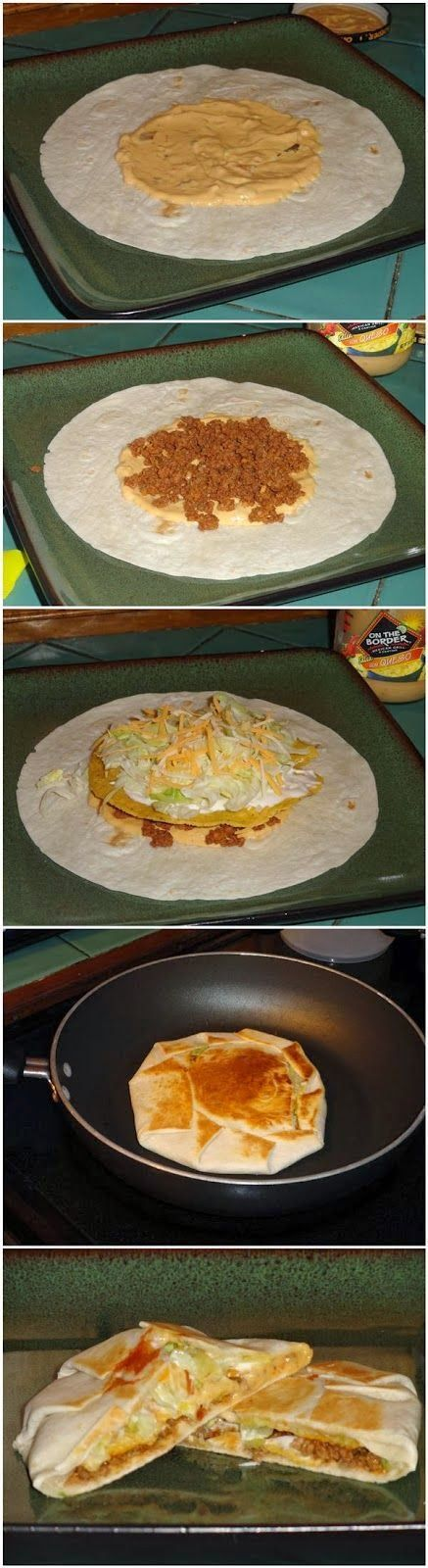 Yummy Crunchwrap Supremes... YESSSSS!!!!! I'm going to try this with vegan ingredients.