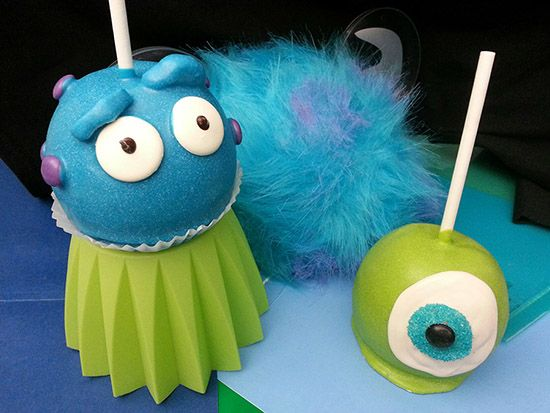 Monstrous Treats at Disney Parks - Mike and Sully Candy Apples