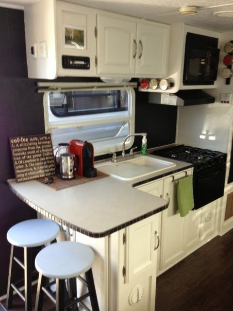 Lots of before & after pics! Traveling Triads: Travel Trailer Remodel Reveal!