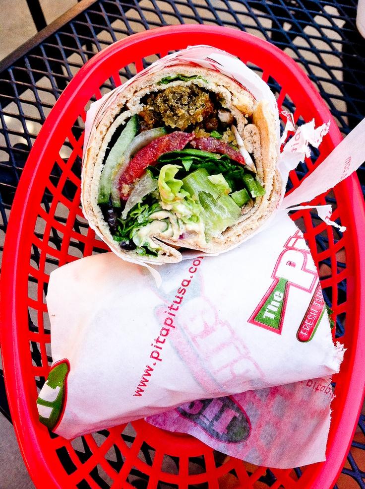 Falafel Wrap at Pita Pit #vegan | Keepin' It Kind