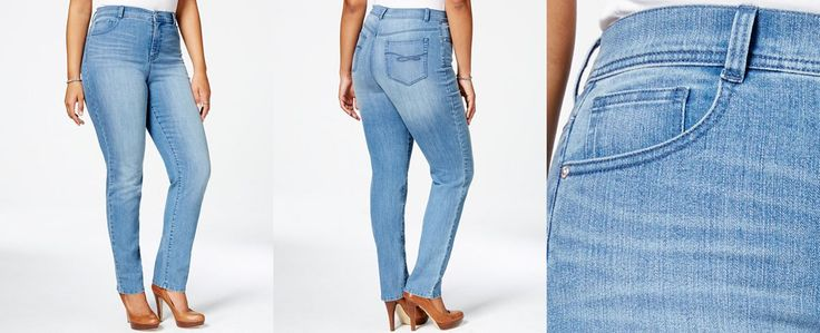 Style & Co. Plus Size Tummy-Control Slim-Leg Jeans, Only at Macy's - Jeans - Plus Sizes - Macy's