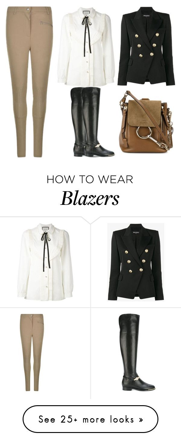 """Untitled #1998"" by rosechicgeorgia on Polyvore featuring Belstaff, Balmain, Gucci, Versace, Chloé and sporty"