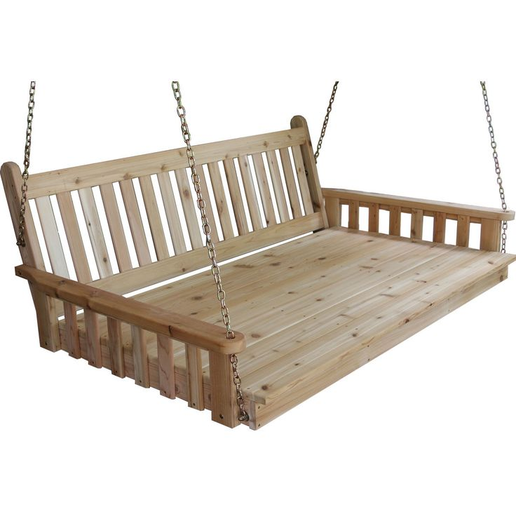 Enjoy those lazy summer days swinging away on this beautiful Traditional English Swing Bed. This is a statement piece for your home and a must have for everyone who loves to relax and enjoy the outdoors.